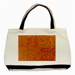 Burnt Amber Orange Brown Abstract Basic Tote Bag (two Sides)