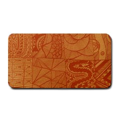 Burnt Amber Orange Brown Abstract Medium Bar Mats