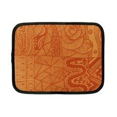 Burnt Amber Orange Brown Abstract Netbook Case (small)