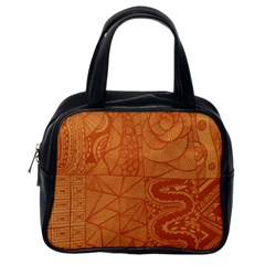 Burnt Amber Orange Brown Abstract Classic Handbags (one Side)