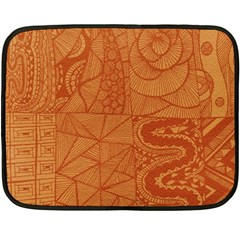 Burnt Amber Orange Brown Abstract Fleece Blanket (mini)