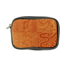 Burnt Amber Orange Brown Abstract Coin Purse
