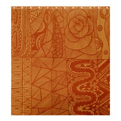 Burnt Amber Orange Brown Abstract Shower Curtain 66  X 72  (large)
