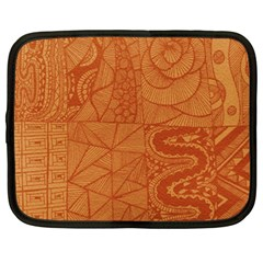 Burnt Amber Orange Brown Abstract Netbook Case (XL)