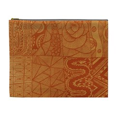 Burnt Amber Orange Brown Abstract Cosmetic Bag (xl)