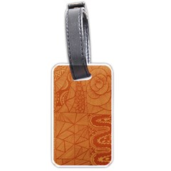 Burnt Amber Orange Brown Abstract Luggage Tags (Two Sides)