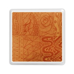 Burnt Amber Orange Brown Abstract Memory Card Reader (square)