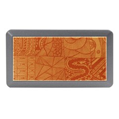 Burnt Amber Orange Brown Abstract Memory Card Reader (mini)