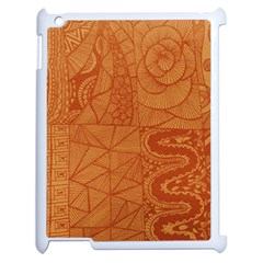 Burnt Amber Orange Brown Abstract Apple Ipad 2 Case (white)