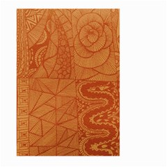 Burnt Amber Orange Brown Abstract Large Garden Flag (two Sides)