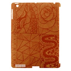 Burnt Amber Orange Brown Abstract Apple Ipad 3/4 Hardshell Case (compatible With Smart Cover)