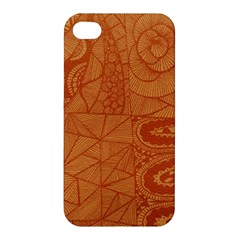 Burnt Amber Orange Brown Abstract Apple Iphone 4/4s Premium Hardshell Case