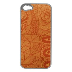 Burnt Amber Orange Brown Abstract Apple Iphone 5 Case (silver)