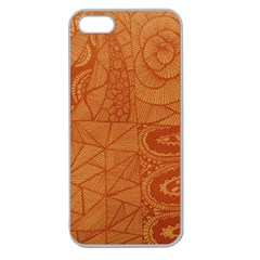Burnt Amber Orange Brown Abstract Apple Seamless Iphone 5 Case (clear)