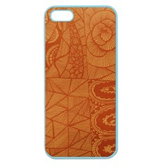 Burnt Amber Orange Brown Abstract Apple Seamless Iphone 5 Case (color)