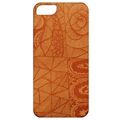 Burnt Amber Orange Brown Abstract Apple Iphone 5 Classic Hardshell Case