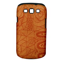 Burnt Amber Orange Brown Abstract Samsung Galaxy S Iii Classic Hardshell Case (pc+silicone)