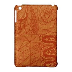 Burnt Amber Orange Brown Abstract Apple iPad Mini Hardshell Case (Compatible with Smart Cover)