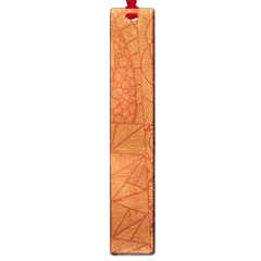 Burnt Amber Orange Brown Abstract Large Book Marks