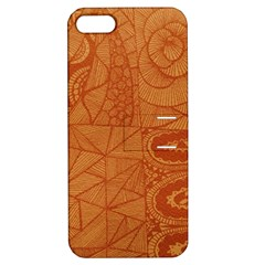 Burnt Amber Orange Brown Abstract Apple Iphone 5 Hardshell Case With Stand