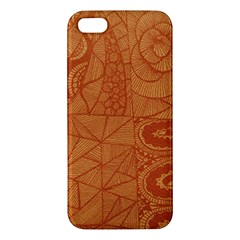 Burnt Amber Orange Brown Abstract Apple Iphone 5 Premium Hardshell Case