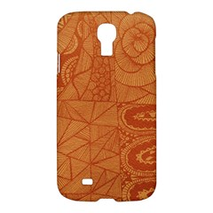 Burnt Amber Orange Brown Abstract Samsung Galaxy S4 I9500/i9505 Hardshell Case