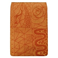 Burnt Amber Orange Brown Abstract Flap Covers (l)