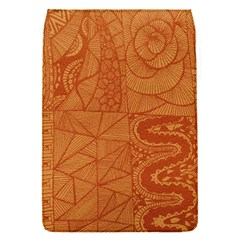 Burnt Amber Orange Brown Abstract Flap Covers (s)