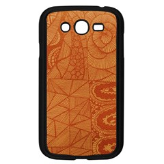 Burnt Amber Orange Brown Abstract Samsung Galaxy Grand Duos I9082 Case (black)