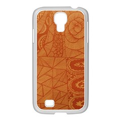 Burnt Amber Orange Brown Abstract Samsung Galaxy S4 I9500/ I9505 Case (white)