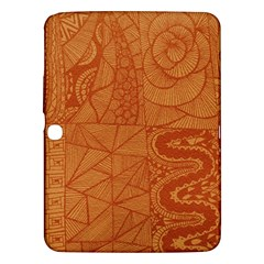 Burnt Amber Orange Brown Abstract Samsung Galaxy Tab 3 (10 1 ) P5200 Hardshell Case