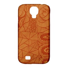 Burnt Amber Orange Brown Abstract Samsung Galaxy S4 Classic Hardshell Case (pc+silicone)