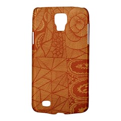Burnt Amber Orange Brown Abstract Galaxy S4 Active