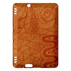 Burnt Amber Orange Brown Abstract Kindle Fire Hdx Hardshell Case