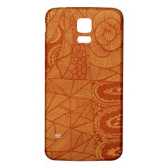 Burnt Amber Orange Brown Abstract Samsung Galaxy S5 Back Case (white)