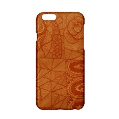 Burnt Amber Orange Brown Abstract Apple Iphone 6/6s Hardshell Case
