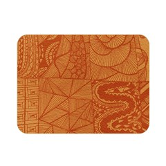 Burnt Amber Orange Brown Abstract Double Sided Flano Blanket (mini)
