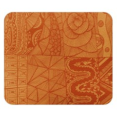Burnt Amber Orange Brown Abstract Double Sided Flano Blanket (small)