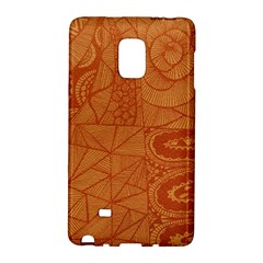 Burnt Amber Orange Brown Abstract Galaxy Note Edge