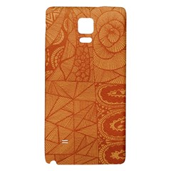 Burnt Amber Orange Brown Abstract Galaxy Note 4 Back Case