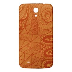 Burnt Amber Orange Brown Abstract Samsung Galaxy Mega I9200 Hardshell Back Case