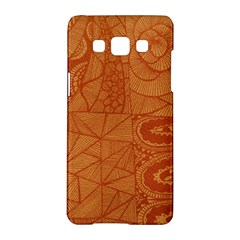 Burnt Amber Orange Brown Abstract Samsung Galaxy A5 Hardshell Case