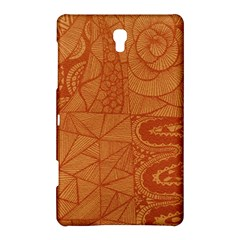 Burnt Amber Orange Brown Abstract Samsung Galaxy Tab S (8 4 ) Hardshell Case