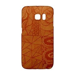 Burnt Amber Orange Brown Abstract Galaxy S6 Edge