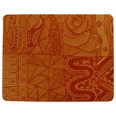 Burnt Amber Orange Brown Abstract Jigsaw Puzzle Photo Stand (rectangular)