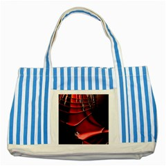Fractal Mathematics Abstract Striped Blue Tote Bag