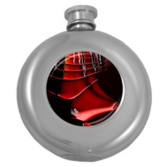 Fractal Mathematics Abstract Round Hip Flask (5 Oz)