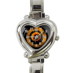 Fractal Mathematics Abstract Heart Italian Charm Watch