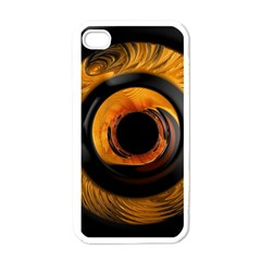 Fractal Mathematics Abstract Apple Iphone 4 Case (white)