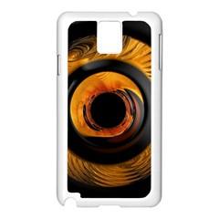 Fractal Mathematics Abstract Samsung Galaxy Note 3 N9005 Case (white)